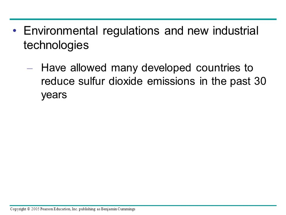 Environmental regulations and new industrial technologies