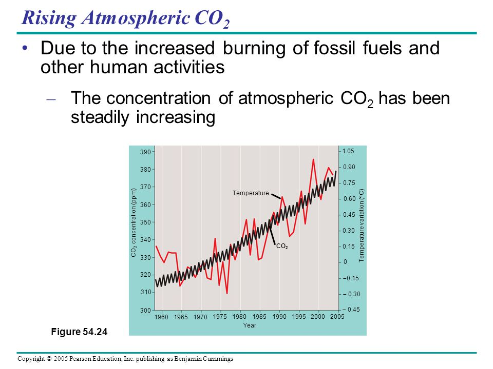 Rising Atmospheric CO2 Due to the increased burning of fossil fuels and other human activities.