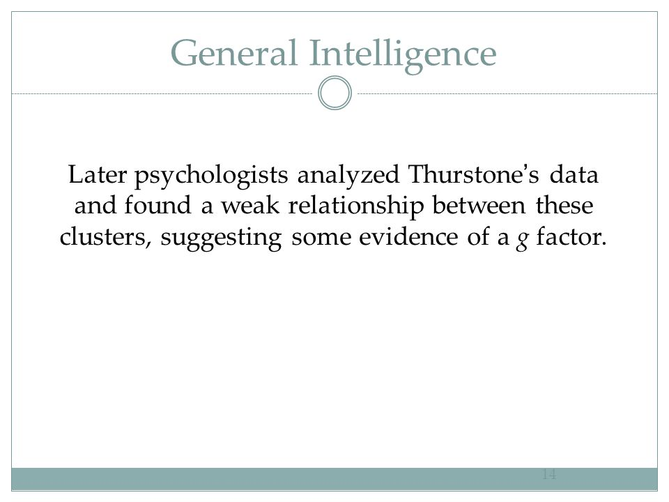 General Intelligence