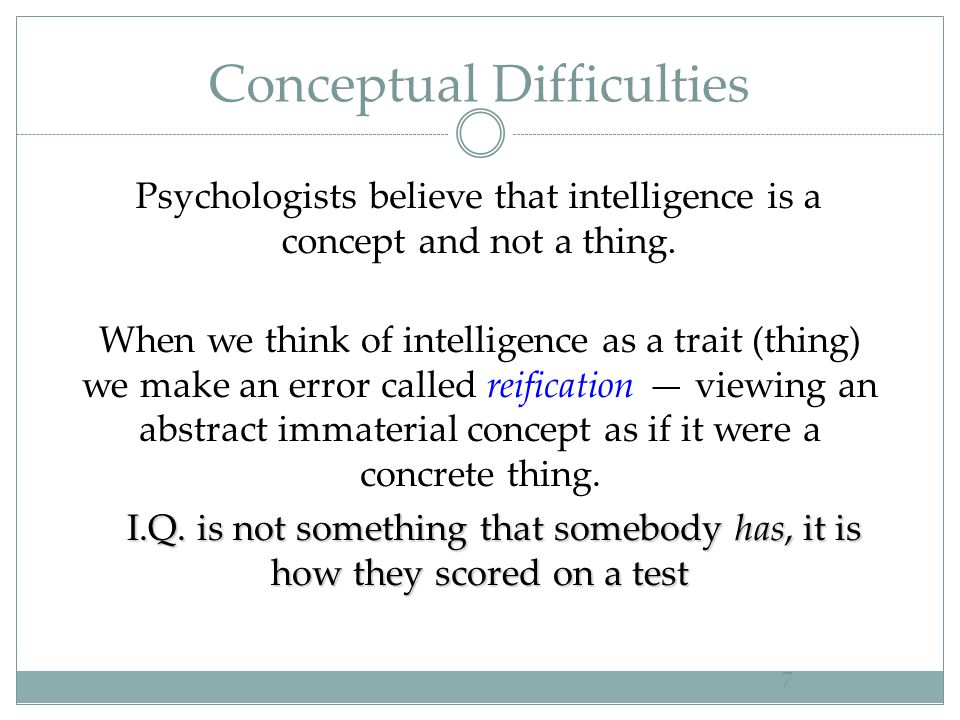 Conceptual Difficulties