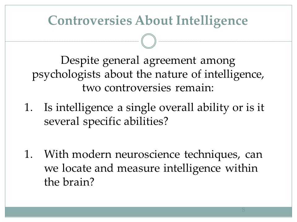 Controversies About Intelligence