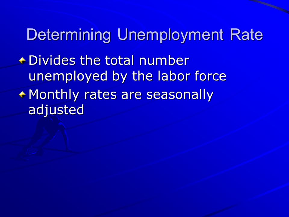 Determining Unemployment Rate