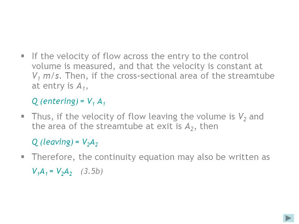 Therefore, the continuity equation may also be written as