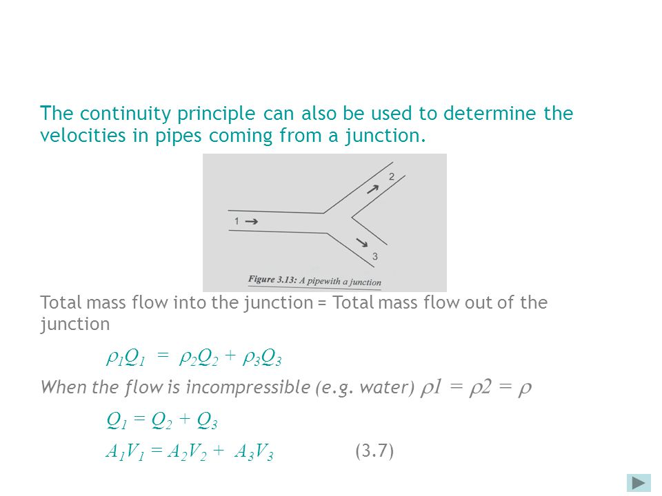 rate of flow and continuity principle pdf
