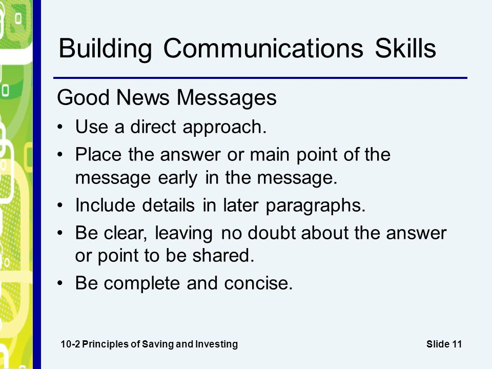 Building Communications Skills