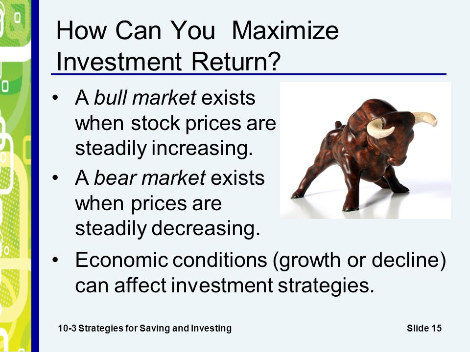 How Can You Maximize Investment Return