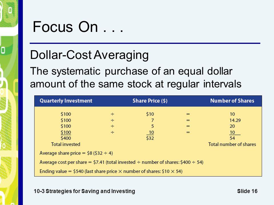 Focus On . . . Dollar-Cost Averaging