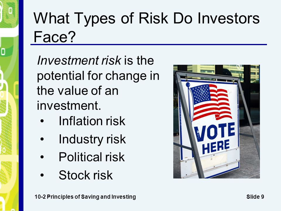 What Types of Risk Do Investors Face