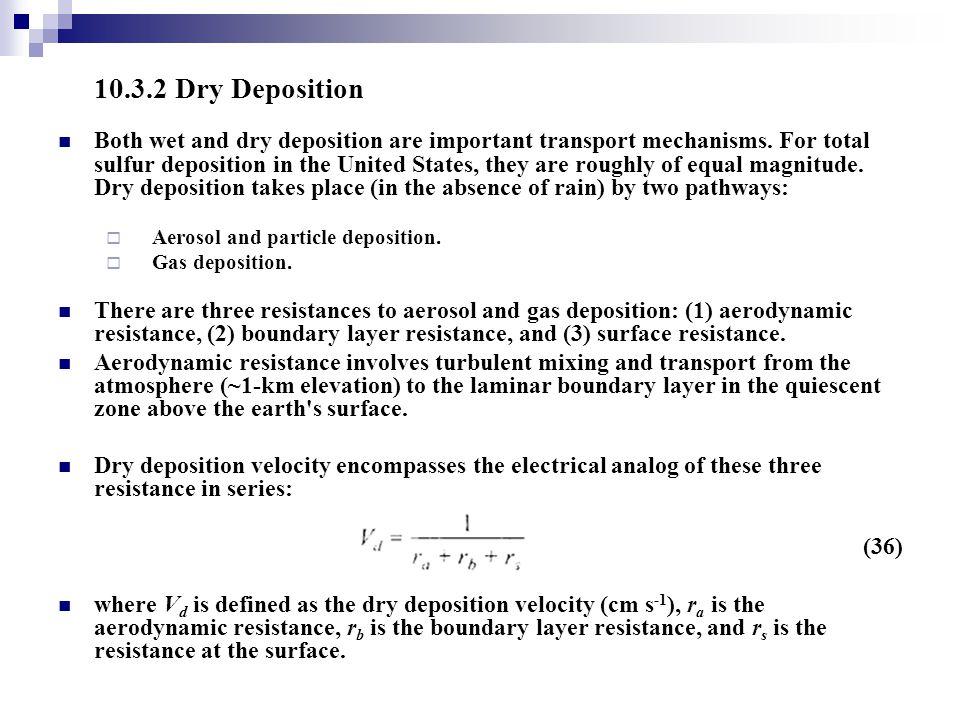 10.3.2 Dry Deposition