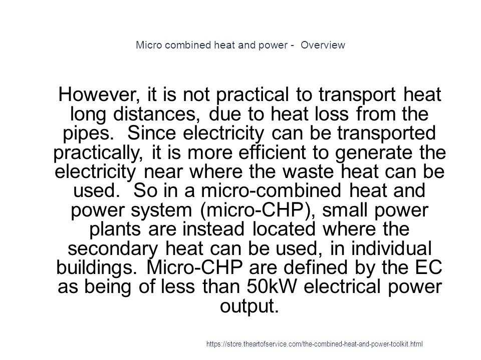 Micro combined heat and power - Overview