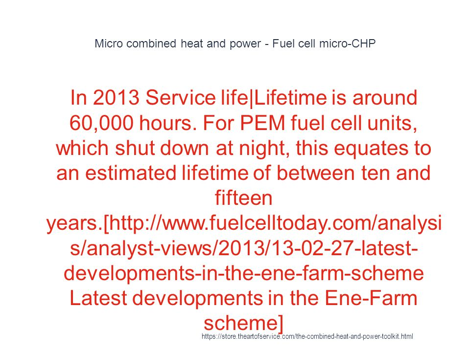 Micro combined heat and power - Fuel cell micro-CHP