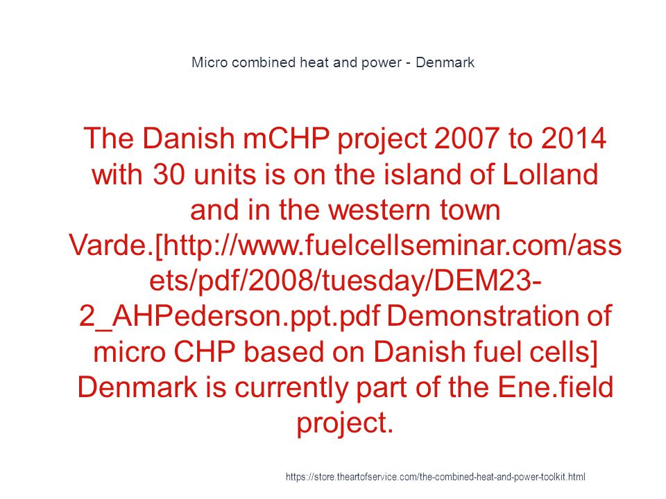 Micro combined heat and power - Denmark