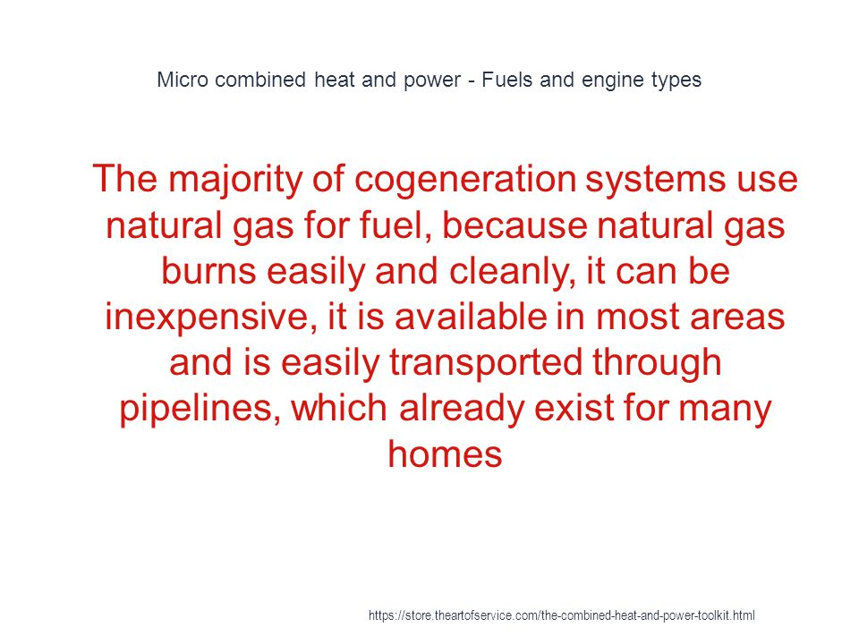 Micro combined heat and power - Fuels and engine types