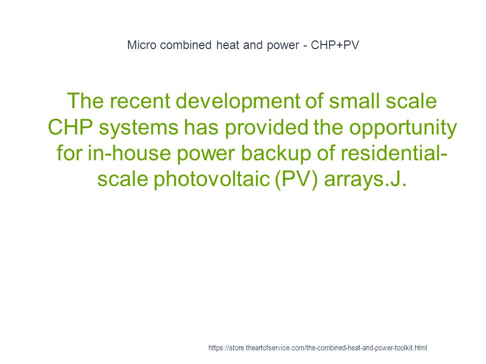 Micro combined heat and power - CHP+PV