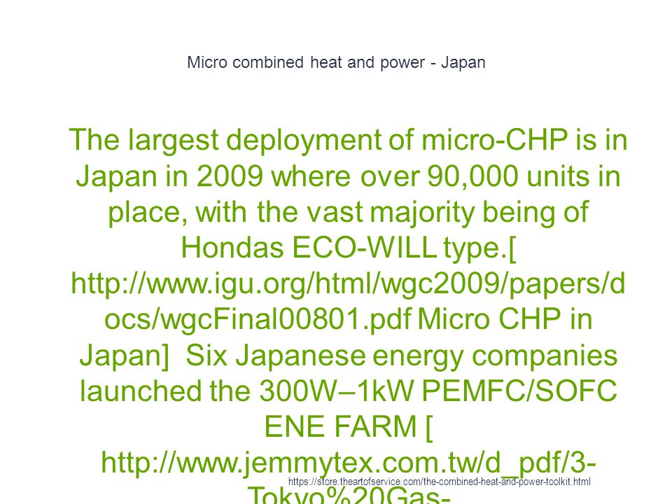 Micro combined heat and power - Japan