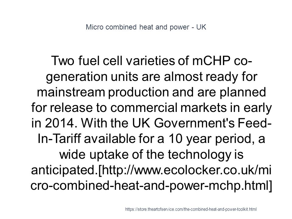 Micro combined heat and power - UK