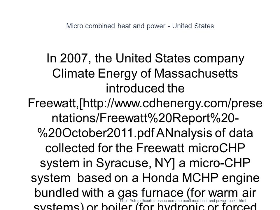 Micro combined heat and power - United States