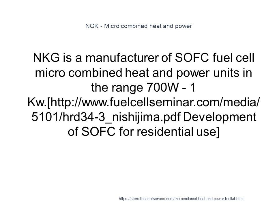 NGK - Micro combined heat and power