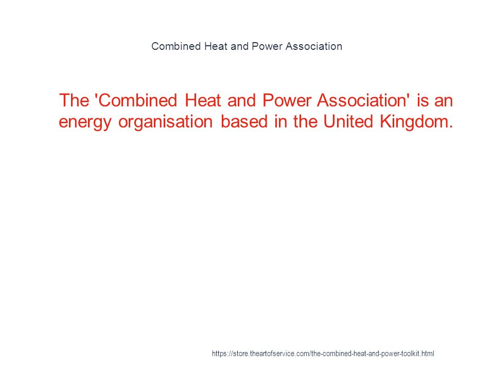 Combined Heat and Power Association