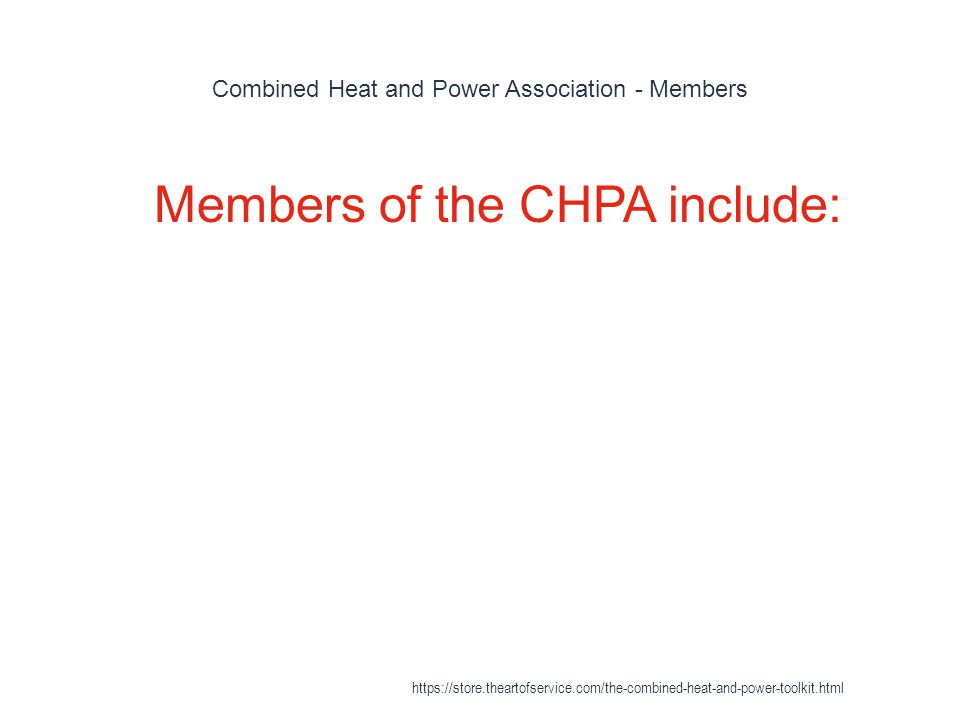 Combined Heat and Power Association - Members