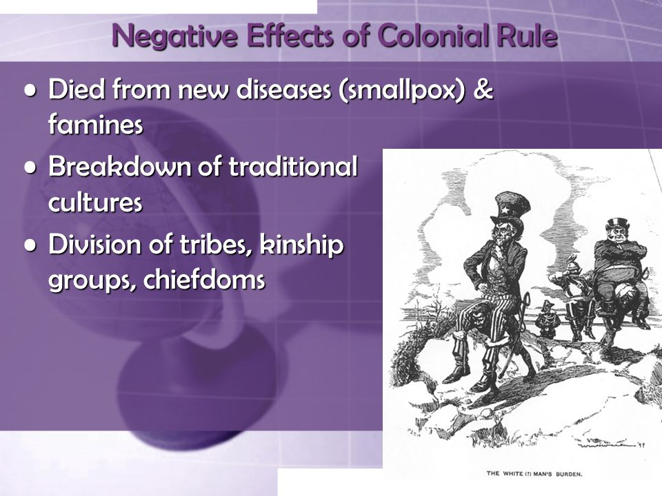 Negative Effects of Colonial Rule