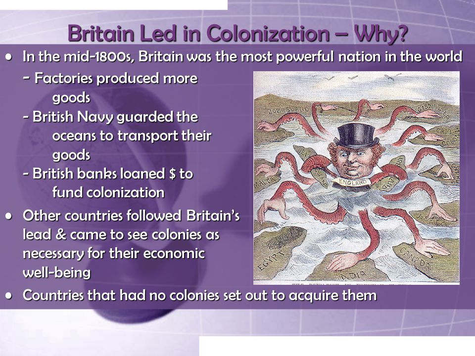 Britain Led in Colonization – Why