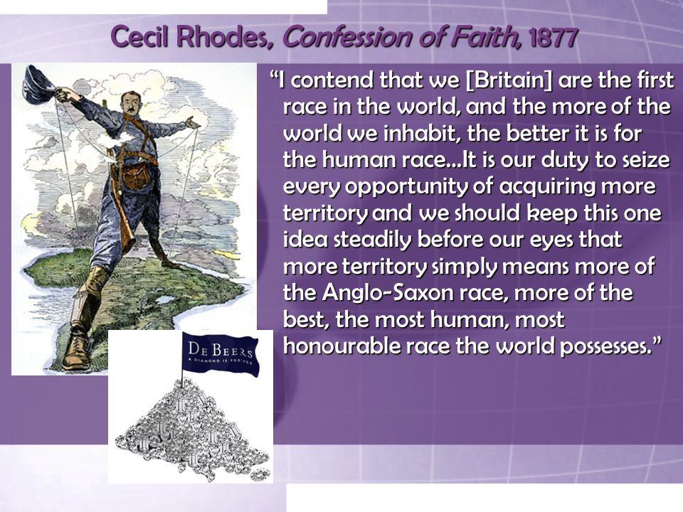 Cecil Rhodes, Confession of Faith, 1877