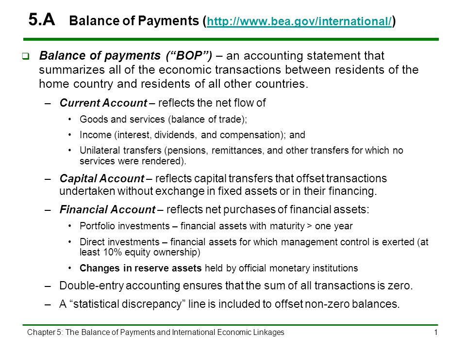 5.B International Flow of Goods, Services, and Capital