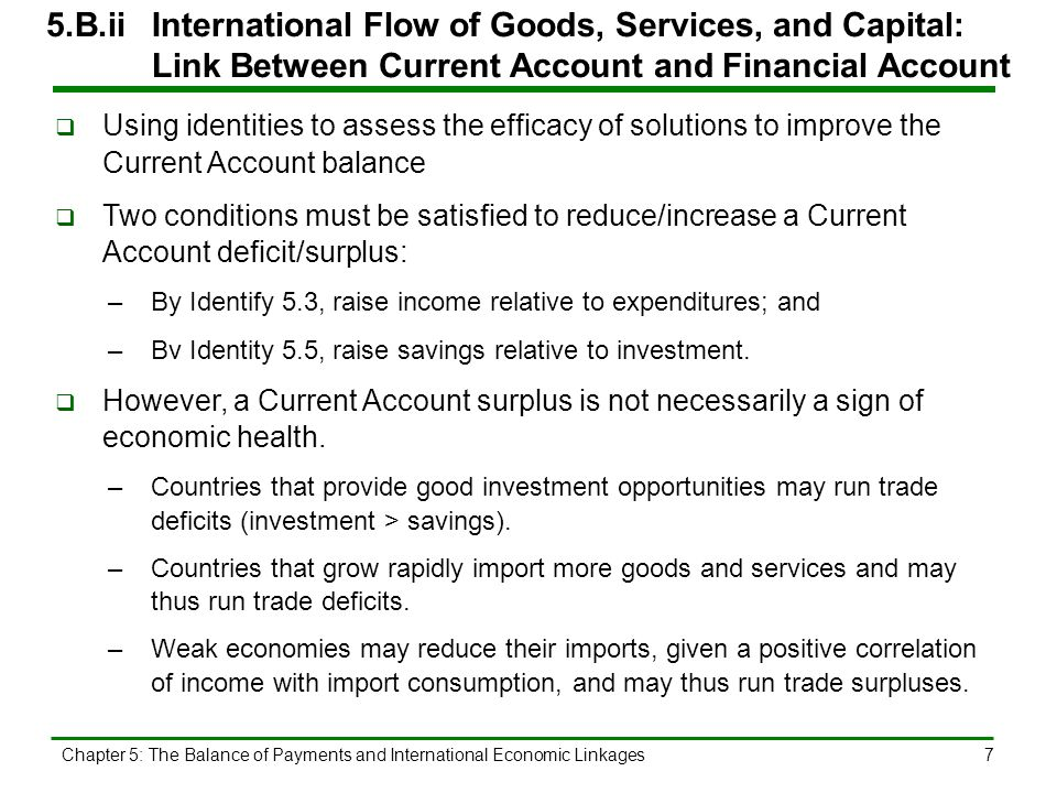5. B. iii. International Flow of Goods, Services, and Capital: Govt