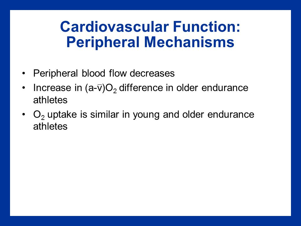 Cardiovascular Function: Peripheral Mechanisms