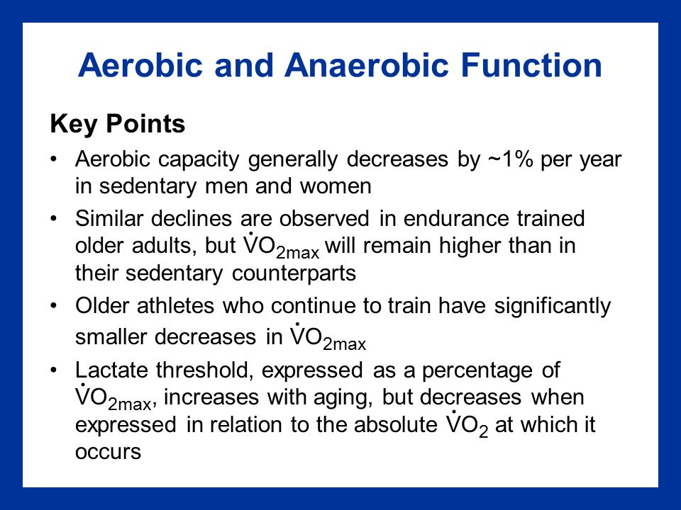Aerobic and Anaerobic Function