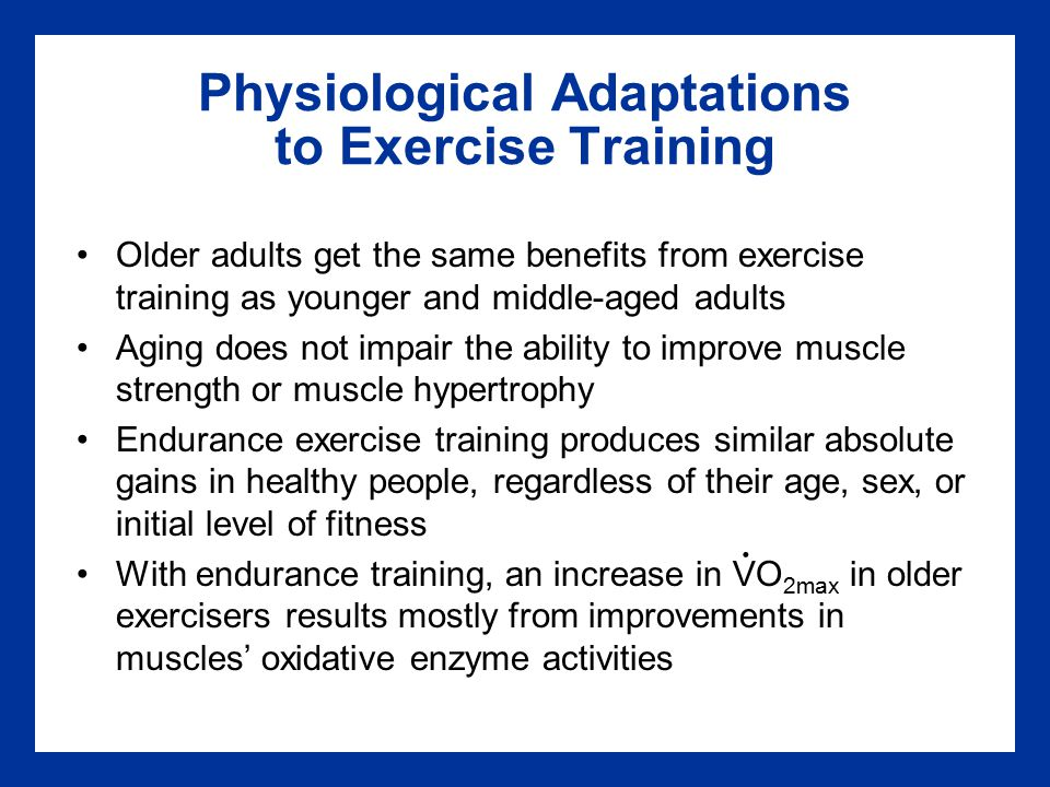 Physiological Adaptations to Exercise Training