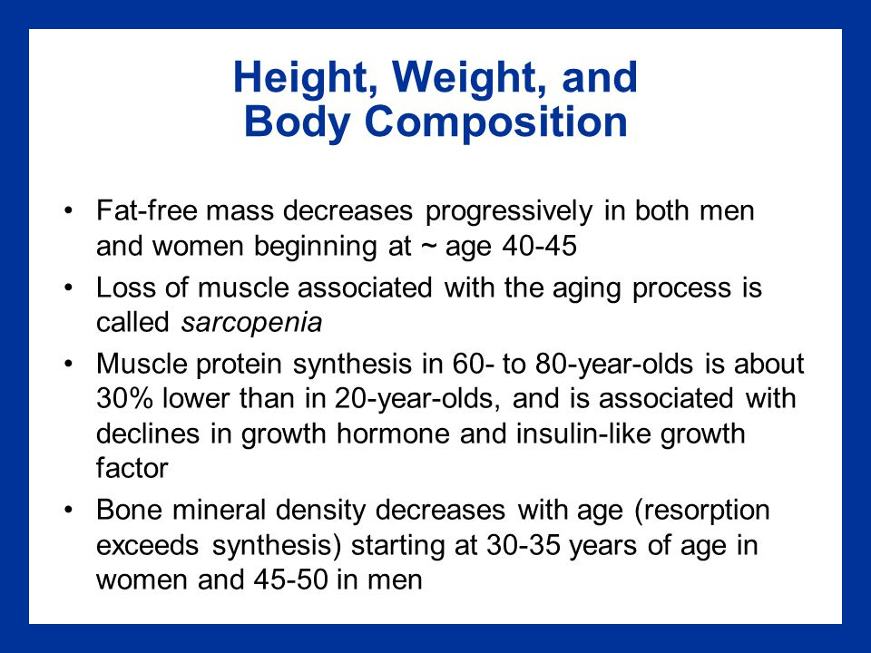 Height, Weight, and Body Composition