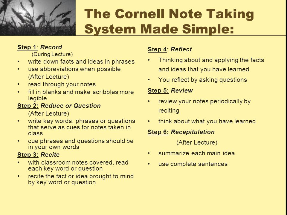 The Cornell Note Taking System Made Simple: