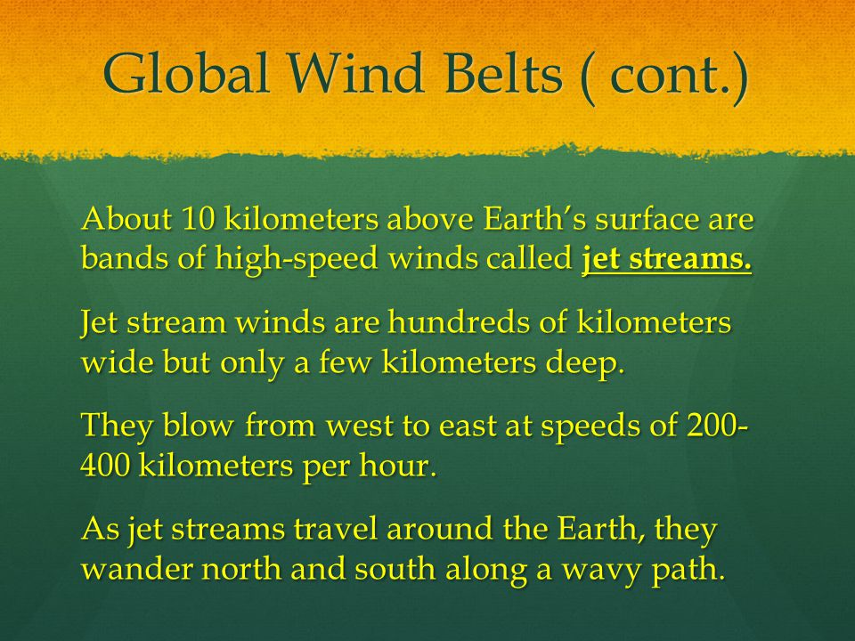 Global Wind Belts ( cont.)