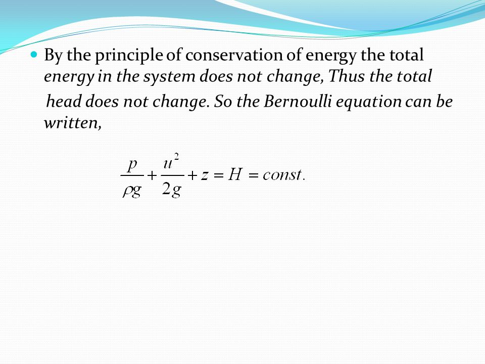 By the principle of conservation of energy the total energy in the system does not change, Thus the total