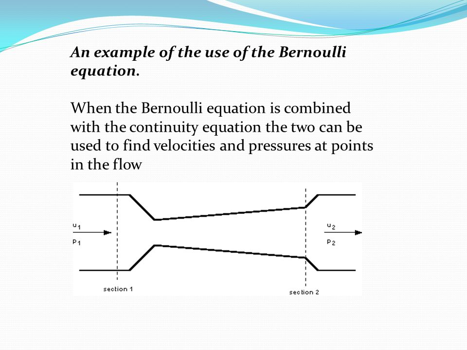 An example of the use of the Bernoulli equation.