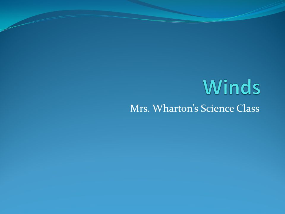 Mrs. Wharton's Science Class