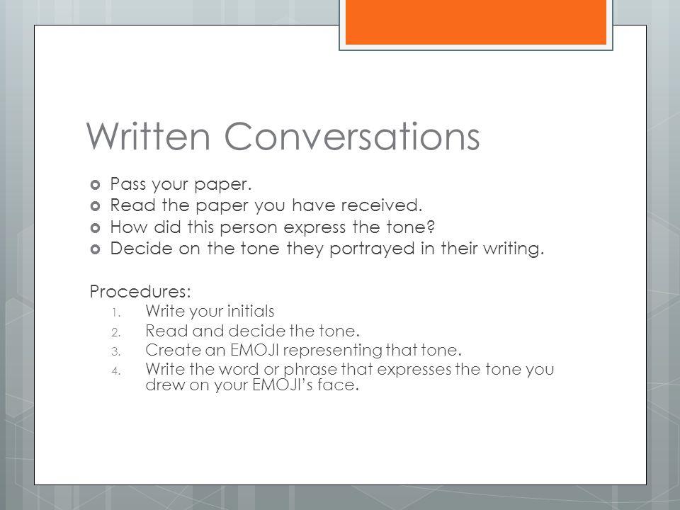 Written Conversations