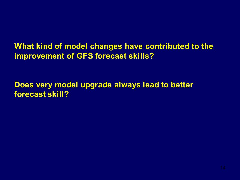 What kind of model changes have contributed to the improvement of GFS forecast skills