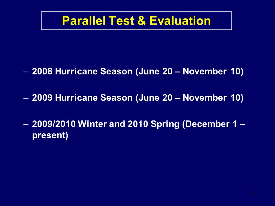Parallel Test & Evaluation