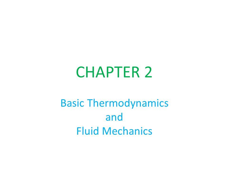 Basic Thermodynamics and Fluid Mechanics