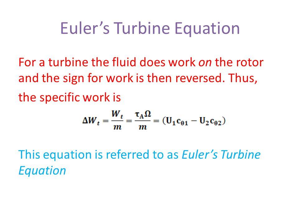 Euler's Turbine Equation