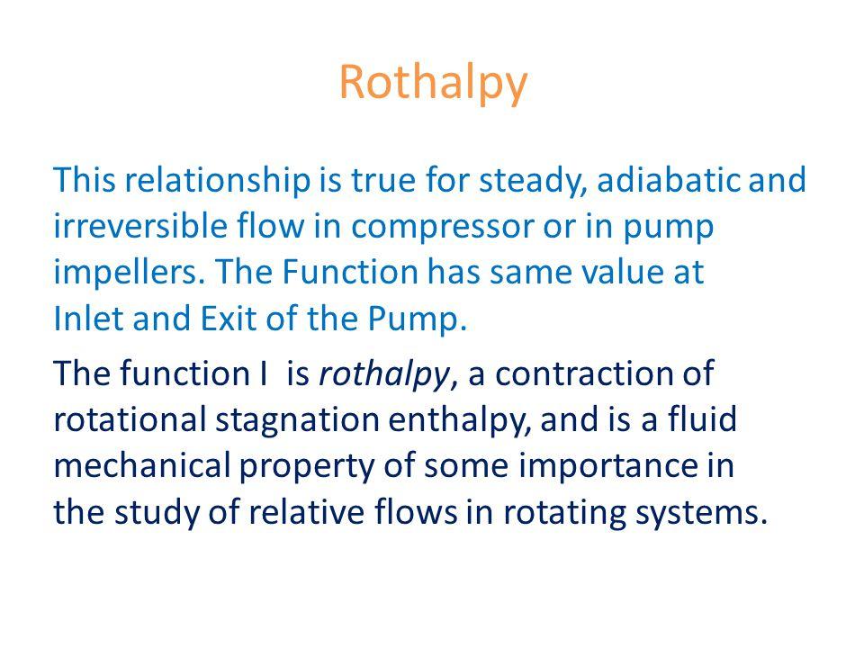 Rothalpy