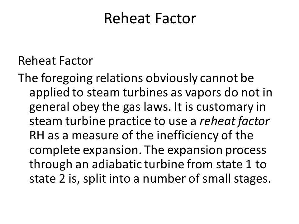 Reheat Factor