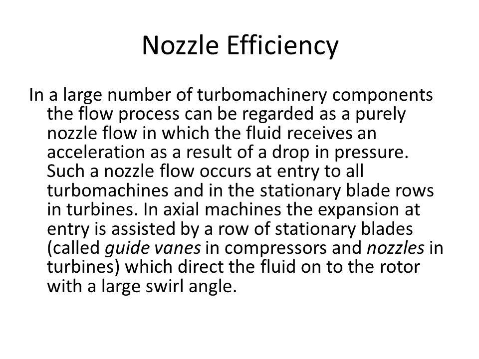 Nozzle Efficiency