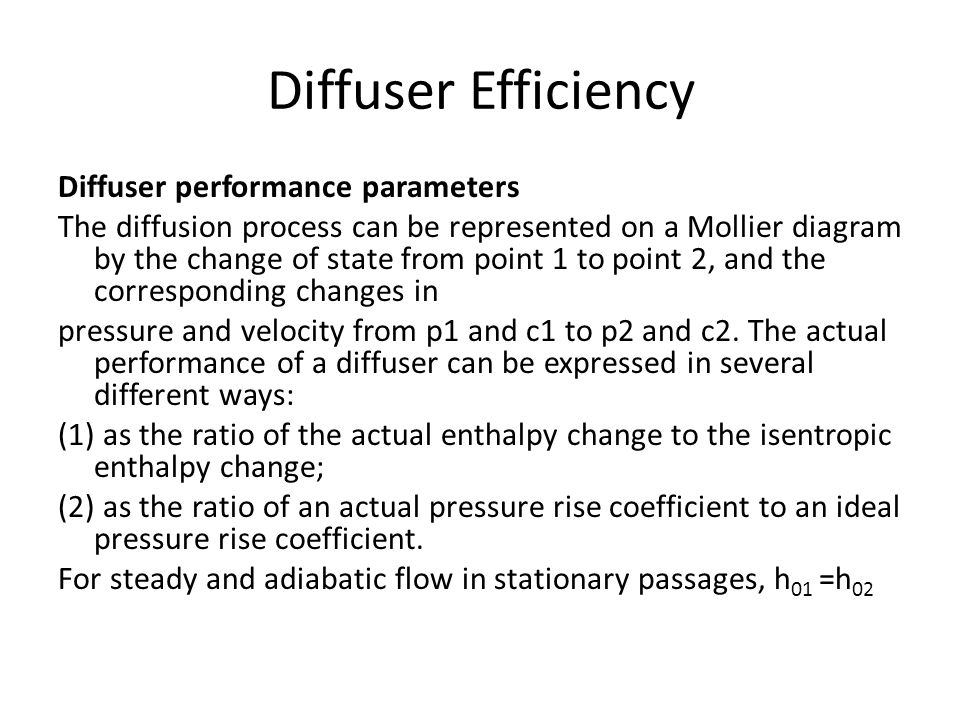 Diffuser Efficiency