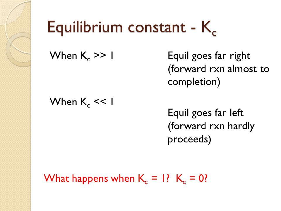 Equilibrium constant - Kc