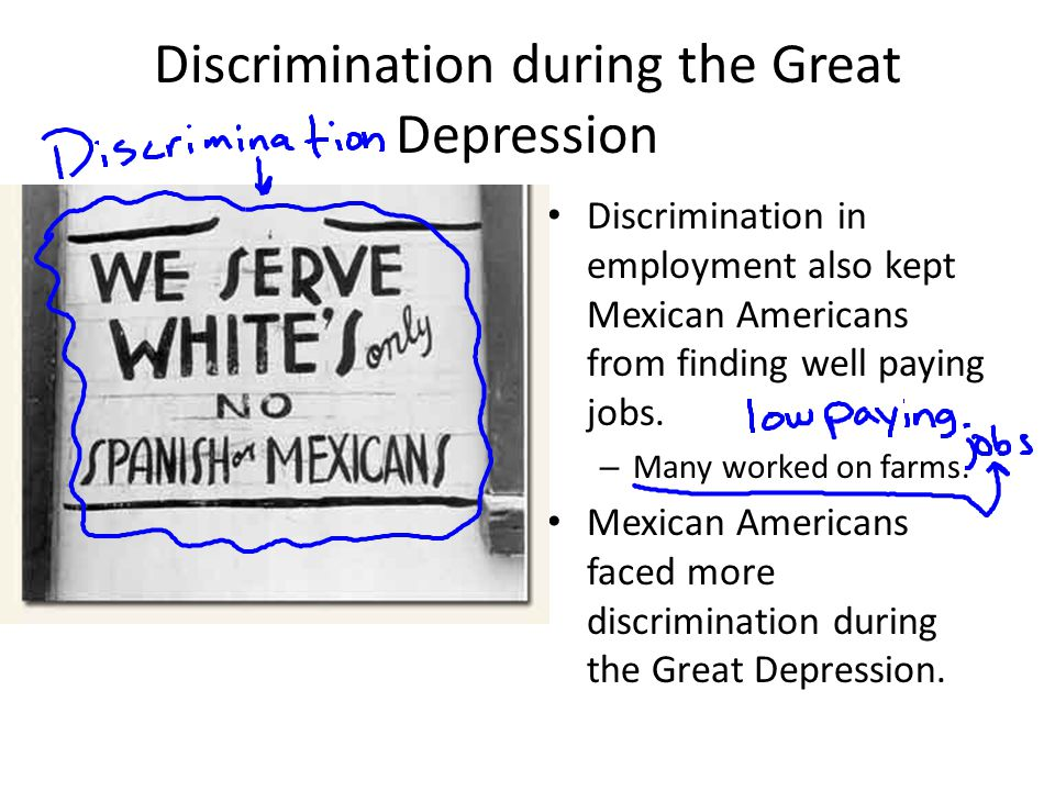 Discrimination during the Great Depression