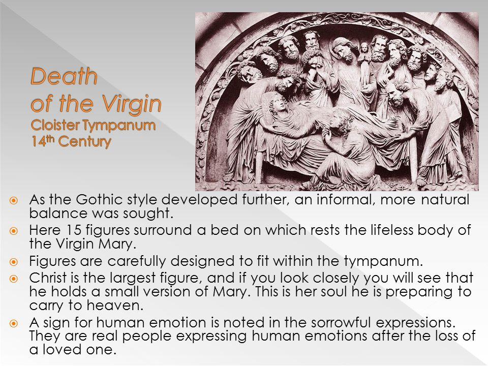 Death of the Virgin Cloister Tympanum 14th Century